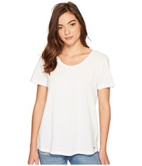 Roxy Just Simple Solid Tee Marshmallow Women's T Shirt Blue