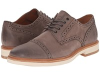 Frye Joel Brogue Oxford Charcoal Soft Nubuck Men's Shoes Brown
