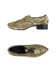 Collection Privee Collection Privee Lace Up Shoes Gold