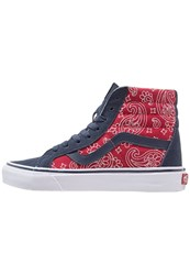 Vans Sk8 Reissue Hightop Trainers Dress Blues Chili Pepper Red