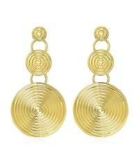 Theo Fennell Gold Whip Triple Disc Earrings Female