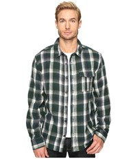Alternative Apparel Yarn Dye Flannel Logger Shirt Jacket Green Plaid Men's Coat