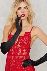 Nasty Gal So Long Satin Gloves