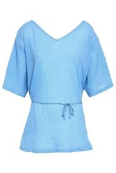 American Vintage Woman Cotton Georgette Tunic Light Blue