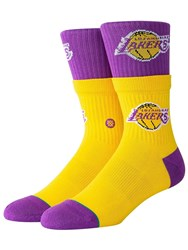 Stance Lakers Double Double Socks Yellow