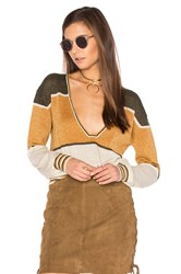 Free People Gold Dust Pullover Top Olive
