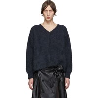 Maison Martin Margiela Navy Gauge 3 Sweater