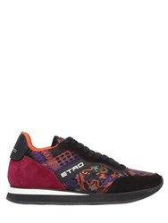 Etro Paisley Jacquard And Suede Sneakers