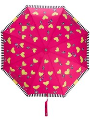 Moschino Heart Air Balloon Umbrella Pink