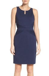 Ellen Tracy Women's Ponte Sheath Dress Navy