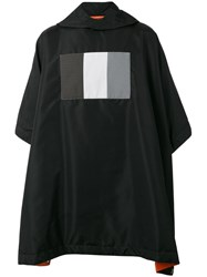 Komakino Hooded Poncho Men Nylon One Size Black