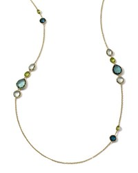 Ippolita 18K Long Multi Stone Gelato Necklace White