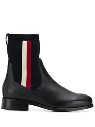 Tommy Hilfiger Leather Ankle Boots Blue