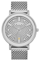 Women's Skagen 'Hald' Solar Powered Mesh Strap Watch 34Mm