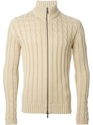 Etro Cable Knit Cardigan Nude And Neutrals