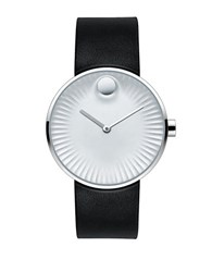 Movado Edge Stainless Steel And Rubber Strap Watch 3680001 Black
