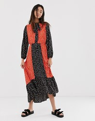 Only Maxi Dress In Mixed Floral Print Black