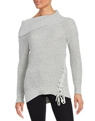 Jessica Simpson Gwenore Knit Sweater Grey