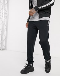 Fred Perry Loopback Joggers In Black