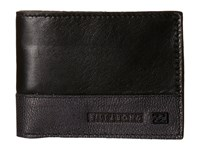 Billabong Exchange Slim Wallet Black Bi Fold Wallet