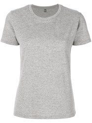 Eleventy Classic Fitted T Shirt Spandex Elastane Wool S Grey