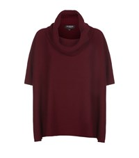 Harrods Of London Cashmere Cowl Neck Poncho Female Purple