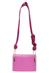 Roksanda Ilincic Woman Knotted Two Tone Leather Shoulder Bag Magenta