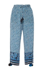 Figue Fiore Cropped Pants Blue