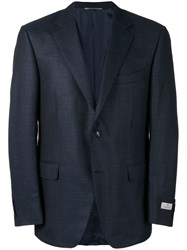 Canali Single Breasted Suit Jacket Blue