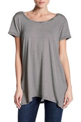 14Th And Union Short Sleeve Cutout Tee Petite Black