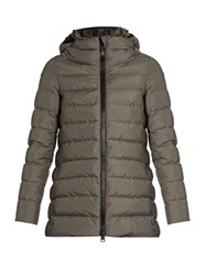 Herno Laminar Down Filled Padded Coat Dark Grey