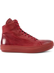 The Last Conspiracy Hi Top Sneakers Men Calf Leather Horse Leather Rubber 41 Red