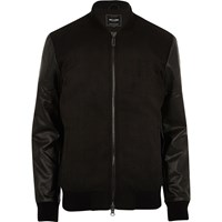 Only And Sons River Island Mens Black Bomber Jacket