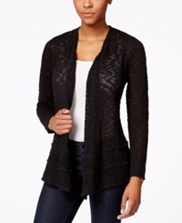Styleandco. Style And Co. Crochet Trim Open Front Cardigan Only At Macy's