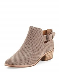 Dolce Vita Kato Perforated Suede Bootie Taupe