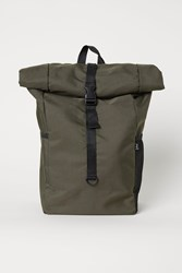 Handm Backpack With Roll Top Opening Green