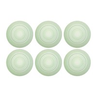 Bitossi Home Pois Glass Ice Cream Bowls Set Of 6 Green