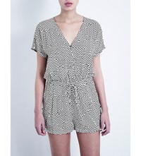 Seafolly Walk The Line Magnitude Playsuit Black White