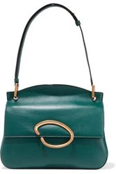Oscar De La Renta Woman Remedy Leather Shoulder Bag Petrol