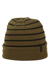 Men's A. Kurtz Deck Stripe Beanie Green Military
