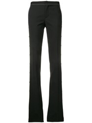 Red Valentino Contrast Stitch Bootleg Trousers Black