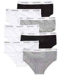 Alfani Men's Low Rise Briefs 7 Pack Black White Grey