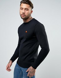 Ellesse Knitted Sweatshirt With Small Logo Black