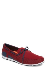 Swims Men's Breeze Loafer Deep Red Navy White
