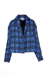 Marni Checkered Jacket Blue