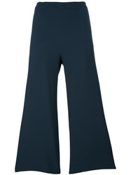 Fabiana Filippi Flared Trousers Women Polyester Spandex Elastane Acetate Viscose 50 Blue