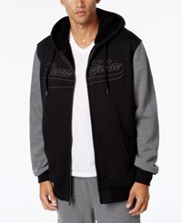 Sean John Banner Jacket With Contrast Sleeves Black