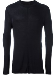 Diesel Black Gold Exposed Seam Fitted Jumper Blue