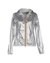 K Way Coats And Jackets Jackets Women Silver