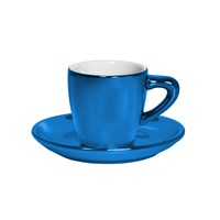 Bialetti Patent Cup And Saucer Twin Pack Shiny Blue